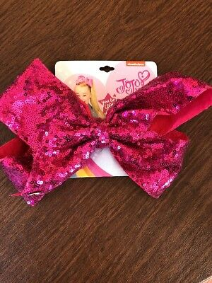 Jojo Siwa Signature Large HOT PINK Sequin Bow - New with tags