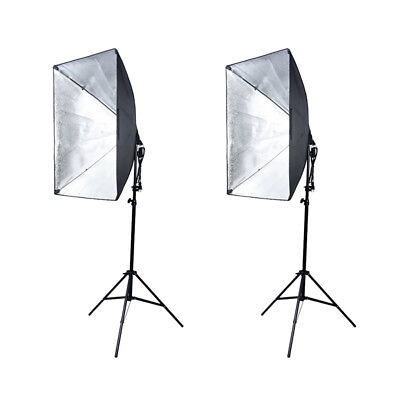 2pcs 135W Photography Photo Studio Softbox Continuous Lighting Stand Kit