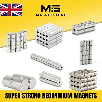 SUPER STRONG Cylinder Rod Neodymium Magnets 2mm 3mm 4mm 5mm 6mm Magnet Rods N42