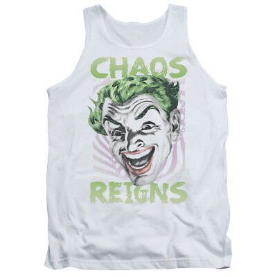 Batman Classic 60's TV Show Joker Face CHAOS REIGNS Licensed Tank Top All Sizes