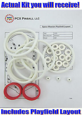 1976 Williams Space Mission Pinball Machine Rubber Ring Kit