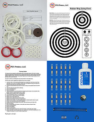 Includes Rubber Ring Kit 1971 Gottlieb Drop-A-Card Pinball Machine Tune-up Kit