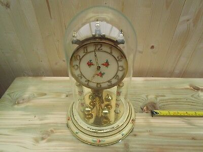 Vintage Kundo Anniversary Glass Dome Clock For Restoration/spares Or Repair