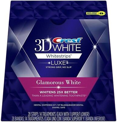 CREST 3D Luxe Glamorous White Whitestrips Teeth Whitening kit Strips Dental 2020