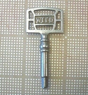 Antique Vintage Original Weed Treadle Sewing Machine Drawer Key Square End