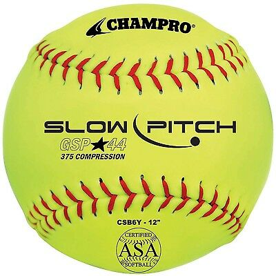 Champro Game ASA Slow Ptich .44 COR, 375 Compression, Poly Synthetic Cover,