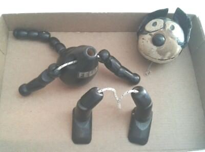 Vintage early 1920's Felix The Cat Wooden Toy