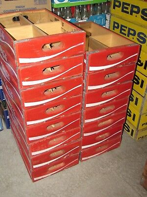 15 Coca Cola Crates          A Large Lot of 15 Beautiful Red Coca Cola Crates...