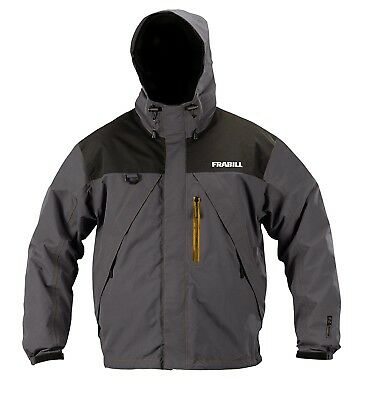 (Small, Grey) - Frabill F2 Surge Rainsuit Jacket. Delivery is Free