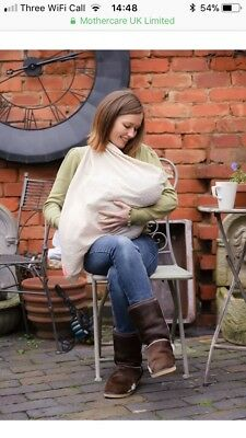 Mothecare breast feeding cover shawl, one size, grey, good condition