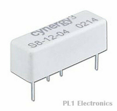 CYNERGY3    S8-2405    Reed Relay, S8 Series, 24 VDC, 1.55 kohm, 1 A, 350 VDC, S
