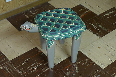 Indonesian / Balinese Handcrafted Wooden Turtle Stand/Table