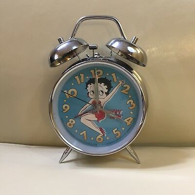 BETTY BOOP 1998~Alarm Clock-King Features used, Wind-Up Works!