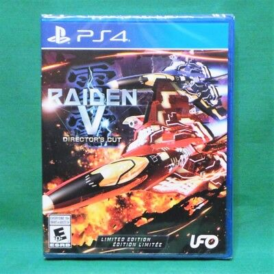 Raiden V: Director's Cut Limited Edition with Soundtrack CD (PlayStation 4, PS4)
