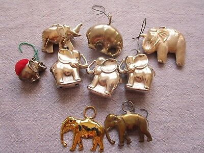 9 pieces Elephants used as ornaments