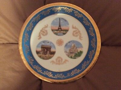 Limoges French Souvenir Plate 8.5""