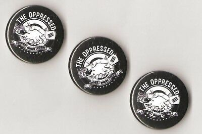 1x The Oppressed Fight the naziscum Button RASH SHARP Oi Skinhead Punk Antifa