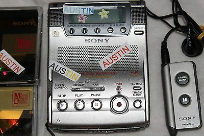 Sony Mz B100 Minidisc Player Recorder, Built In Microphone  Md