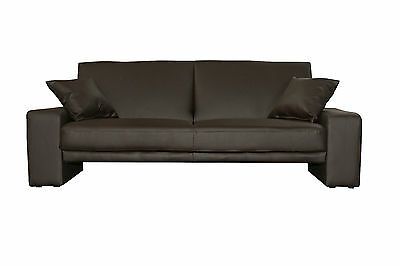 neu venedig schlafsofa kunstleder braun bett couch bettsofa sofa funktionssofa eur 215 00. Black Bedroom Furniture Sets. Home Design Ideas