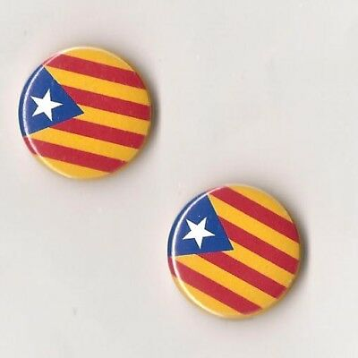 1x Catalunya Button RASH Cataluña Antifa Punk Oi SHARP Katalonien Catalan