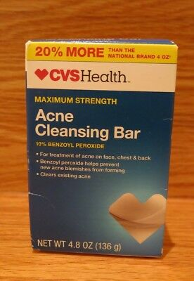 Cvs Health Seales Acne Cleansing Bar 10 Benzoyl Peroxide Panoxyl 4 8oz