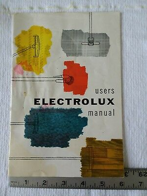 Electrolux Vacuum Cleaner Users Manual 1955 Canister Vintage