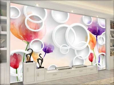 Gorgeous Blooming Flowers 3D Full Wall Mural Photo Wallpaper Printing Home Kids
