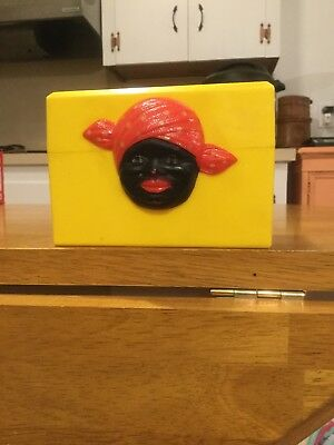 Aunt Jemima Yellow Recipe Box Vintage and Rare 1950's