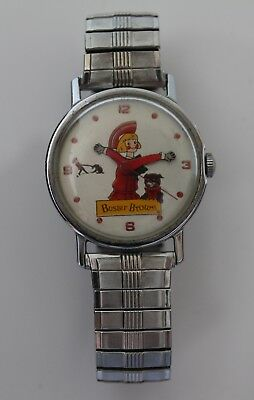 Vintage Buster Brown Shoes Advertising Mechanical Watch