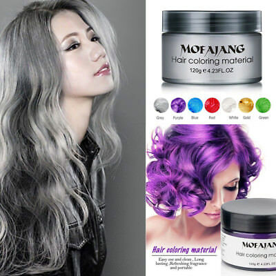 NEW Hair Color Pomades MOFAJANG Wax Mud Dye Styling Cream Disposable DIY 7Colors