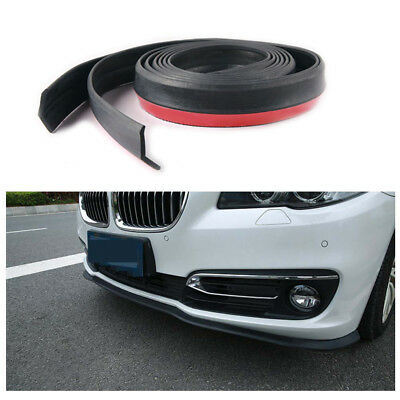 Hot Car PU Carbon Fiber Front Bumper Lip Splitter Chin Spoiler Body Trim 2.5M