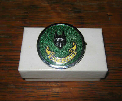 Boy Scouts Canada Wolf Cubs Green Ceramic Round Hat Pin