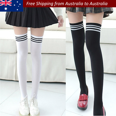 New Fashion Thigh High Over Knee High Socks Girls Women Long Cotton Stockings