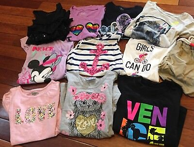 11 Pc Lot Of Kid Girl Clothes- Tops Justice Gap Size 5, 6 Excellent !!