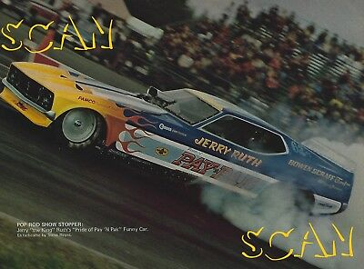 1973 Ford Mustang Jerry The King Ruth Funny Car Hot Rod Photo Ad Pay N Pak 1972
