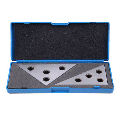 2 Pc Solid Precision Angle Plates Blocks Set 30-60-90 Degree and 45-45-90 Degree