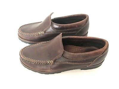4752a95f757 Cole Haan Womens Loafers Size 6.5 Leather Brown Slip On Shoes Made in Brazil