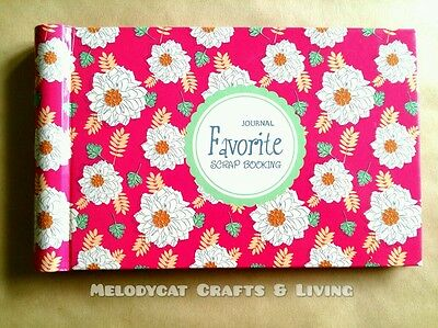 "Beautiful Mini Scrapbook Ring Album Photo Album ""Spring Favorite"" 48Pages"