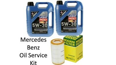 Mercedes Benz Oil Filter Mann Filter and LiquiMoly Synthetic Motor Oil 10L 5W-30