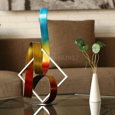Tooarts Square and Ribbon Modern Metal Sculpture Indoor-Outdoor Christmas B8Q4
