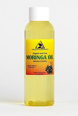 Moringa Oleifera Oil Organic Carrier Cold Pressed Natural Fresh 100% Pure 60ml