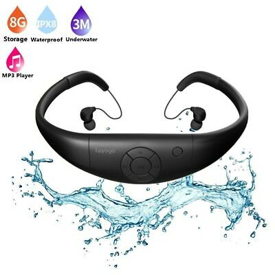 (Black) - Tayogo 2016 Upgraded Waterproof Mp3 Player Headset Music Player, 8