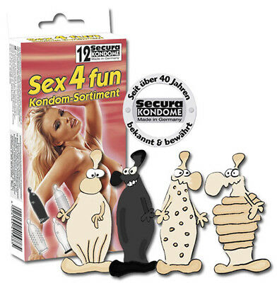 Secura Kondome - Préservatifs - Secura Sex4fun Pack of 12pcs