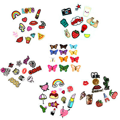 Lovely Lip Applique Badge Embroidered Sew on Clothes Patches For Kids Children