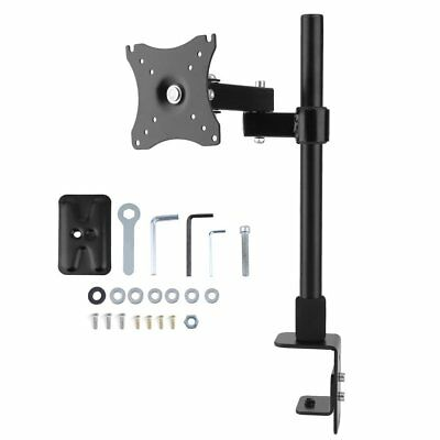 "10-30"" Single Arm Monitor LED LCD Screen VESA Display Bracket Stand Desk Mount"