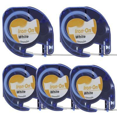 5pk 18771 Compatible for DYMO LT Iron-On Fabric Labels LetraTag Label Maker