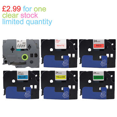COMPATIBLE LABEL TAPE FOR BROTHER 12mm 18mm 24mm P-TOUCH PT- GL- Printers
