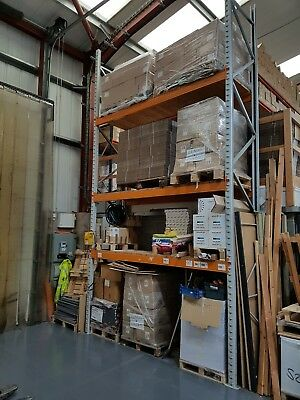 PALLET RACKING WAREHOUSE SHELVING 2 BAY 3 SHELVES H 5450mm L2650mm D900mm approx
