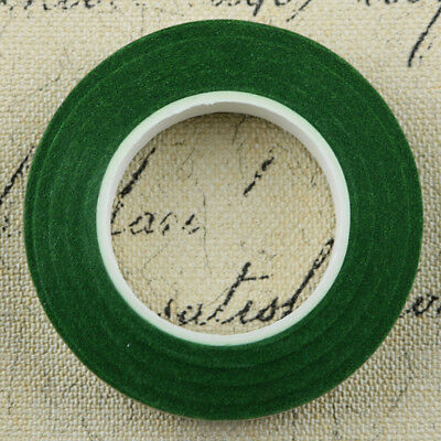 12pcs Florist Stem Tape Wire Floral Buttonholes Corsage Craft 30m Dark Green
