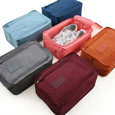 Laundry Shoe Travel Pouch Waterproof Nylon Tote Zipper Storage Bag Organizer New